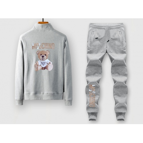 Moschino Tracksuits Long Sleeved Zipper For Men #805379