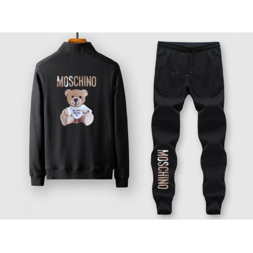Moschino Tracksuits Long Sleeved Zipper For Men #805380