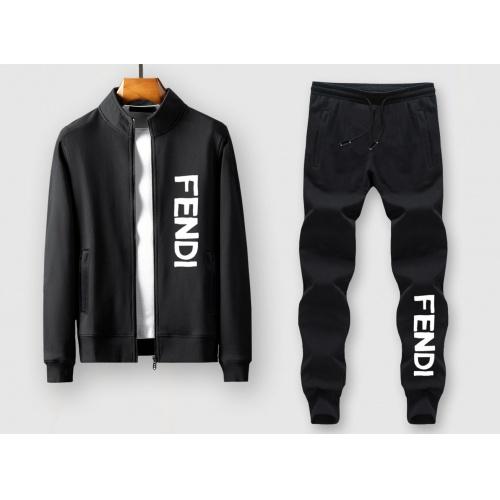 Fendi Tracksuits Long Sleeved Zipper For Men #805415