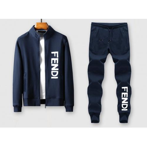 Fendi Tracksuits Long Sleeved Zipper For Men #805416