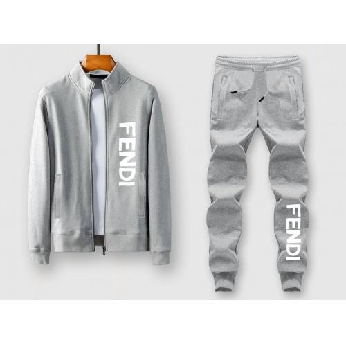Fendi Tracksuits Long Sleeved Zipper For Men #805417
