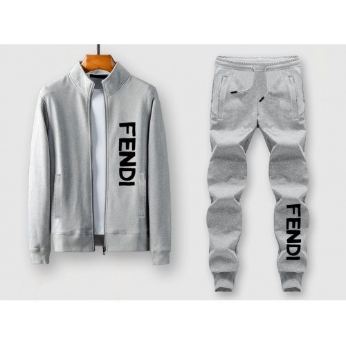 Fendi Tracksuits Long Sleeved Zipper For Men #805418