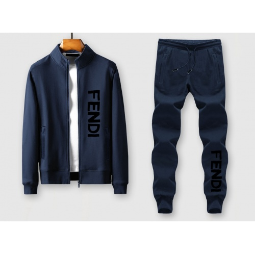 Fendi Tracksuits Long Sleeved Zipper For Men #805419