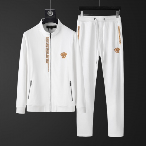 Versace Tracksuits Long Sleeved Zipper For Men #805610