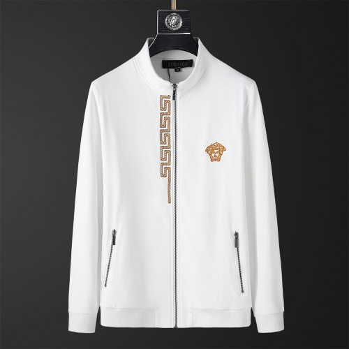 Replica Versace Tracksuits Long Sleeved Zipper For Men #805610 $77.60 USD for Wholesale