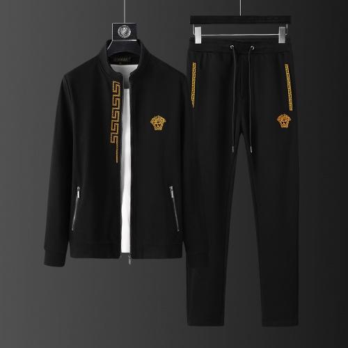 Versace Tracksuits Long Sleeved Zipper For Men #805611