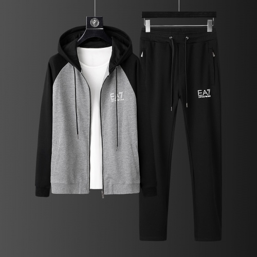 Armani Tracksuits Long Sleeved Zipper For Men #805613