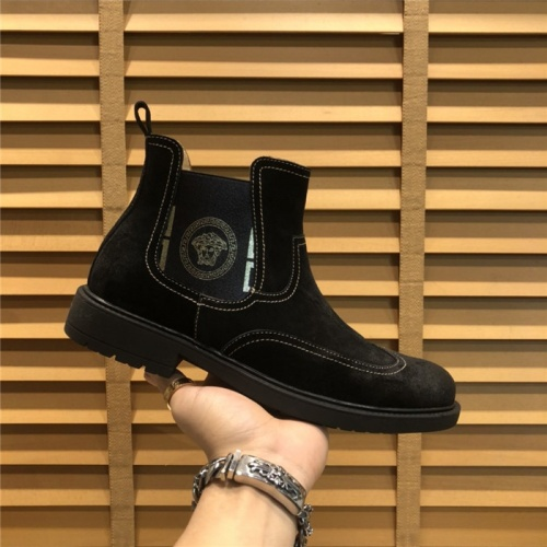 Replica Versace Boots For Men #805684 $104.76 USD for Wholesale