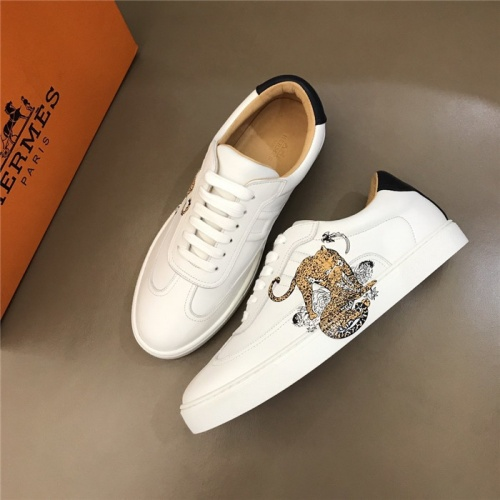 Replica Hermes Casual Shoes For Men #805739 $77.60 USD for Wholesale