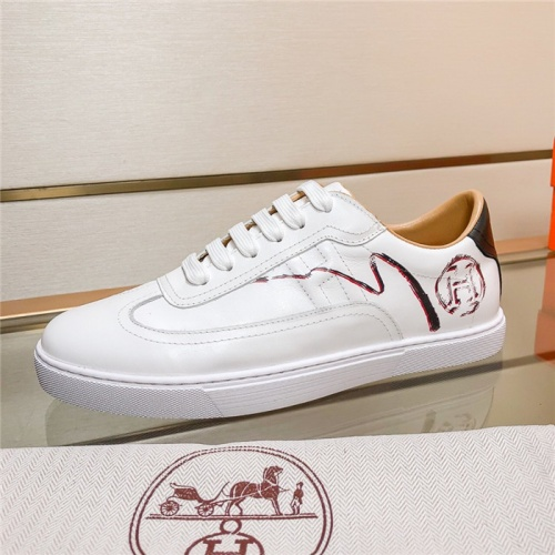 Replica Hermes Casual Shoes For Men #805740 $73.72 USD for Wholesale