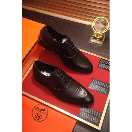 Hermes Leather Shoes For Men #805905 $82.45, Wholesale Replica Hermes Leather Shoes