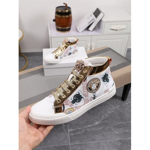 Versace High Tops Shoes For Men #805940 $79.54 USD, Wholesale Replica Versace High Tops Shoes