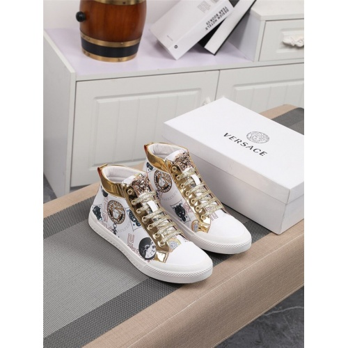 Replica Versace High Tops Shoes For Men #805940 $79.54 USD for Wholesale