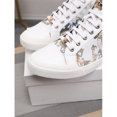 Replica Versace High Tops Shoes For Men #805941 $79.54 USD for Wholesale