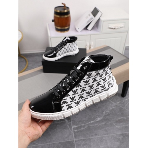 Armani High Tops Shoes For Men #805961