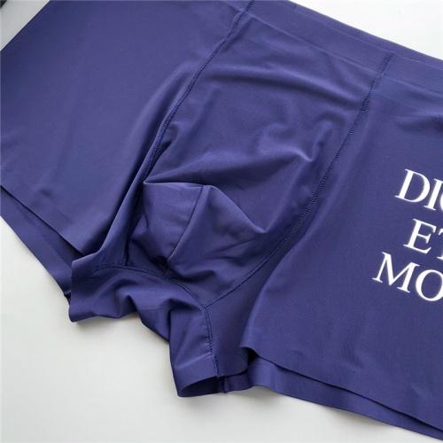 Replica Christian Dior Underwears Shorts For Men #806151 $36.86 USD for Wholesale