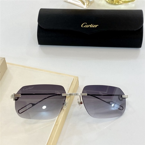 Cartier AAA Quality Sunglasses #806195