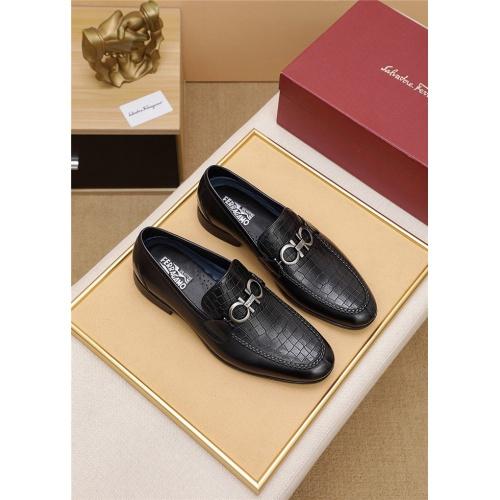 Ferragamo Salvatore FS Leather Shoes For Men #806435