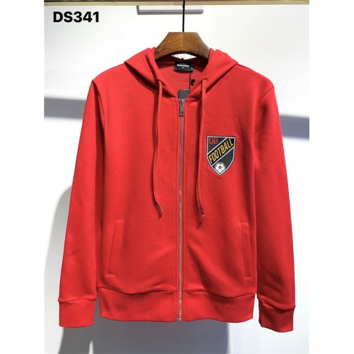 Dsquared Hoodies Long Sleeved Zipper For Men #806709 $50.44 USD, Wholesale Replica Dsquared Hoodies