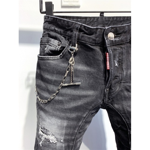 Replica Dsquared Jeans Trousers For Men #806722 $58.20 USD for Wholesale