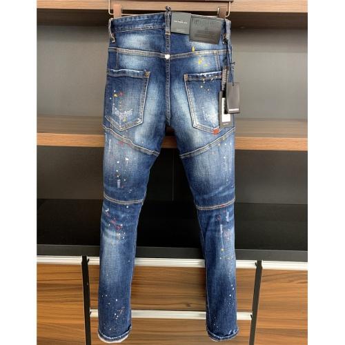 Dsquared Jeans Trousers For Men #806726 $54.32 USD, Wholesale Replica Dsquared Jeans