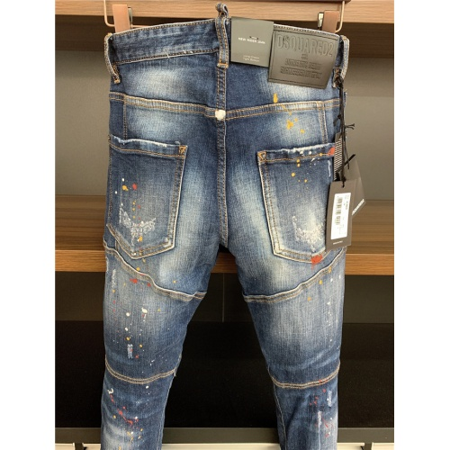 Replica Dsquared Jeans Trousers For Men #806726 $54.32 USD for Wholesale