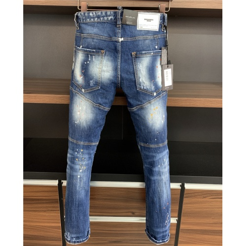 Replica Dsquared Jeans Trousers For Men #806727 $54.32 USD for Wholesale