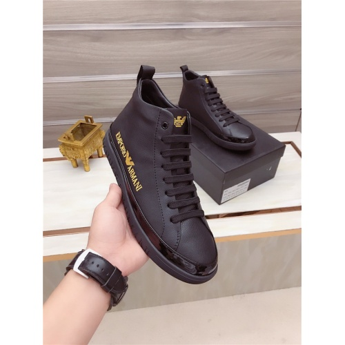 Armani High Tops Shoes For Men #806924