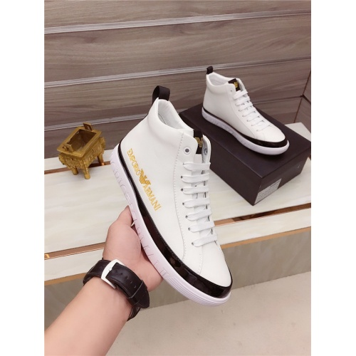 Armani High Tops Shoes For Men #806925