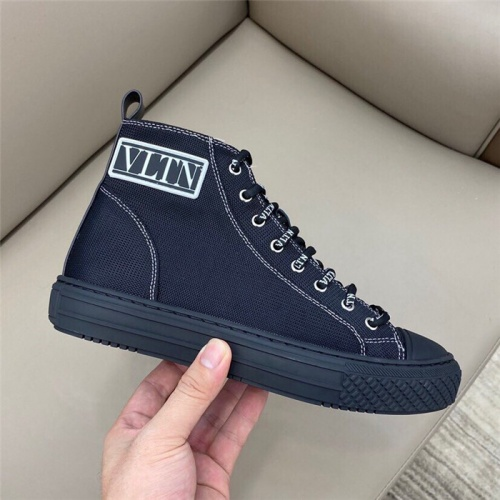 Replica Valentino High Tops Shoes For Men #806940 $80.00 USD for Wholesale