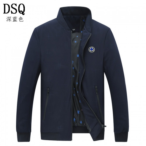 Dsquared Jackets Long Sleeved Zipper For Men #807069