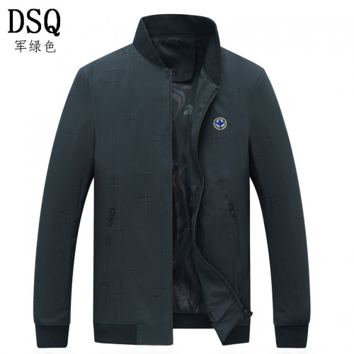 Dsquared Jackets Long Sleeved Zipper For Men #807070
