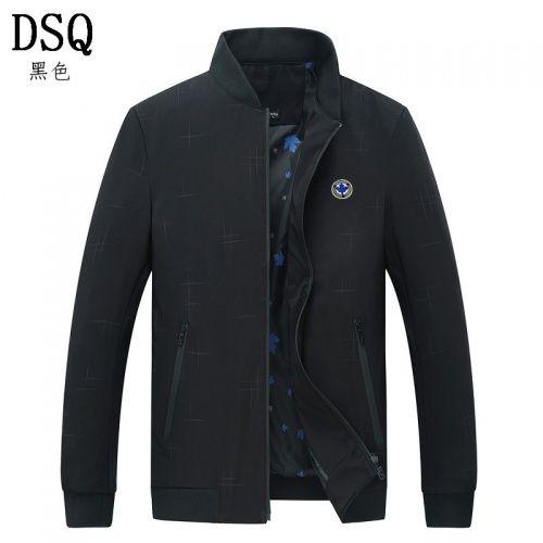 Dsquared Jackets Long Sleeved Zipper For Men #807071