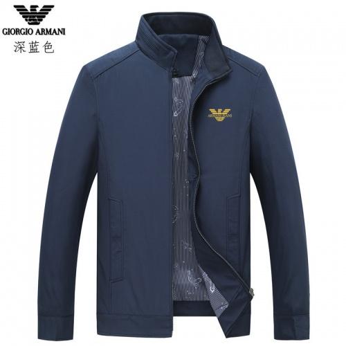 Armani Jackets Long Sleeved Zipper For Men #807081