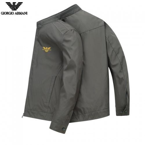 Armani Jackets Long Sleeved Zipper For Men #807082