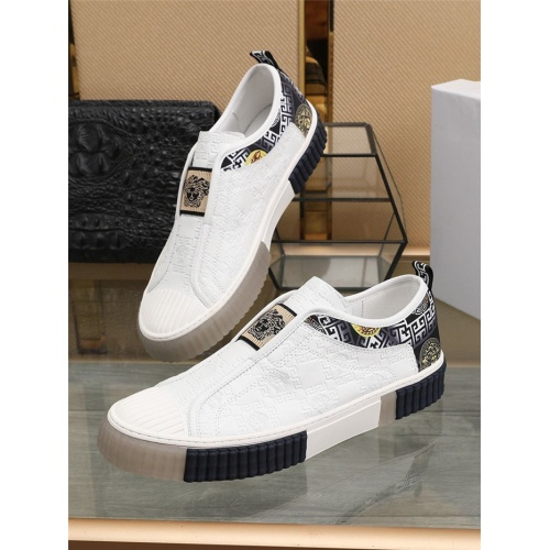 Versace Casual Shoes For Men #807274 $80.00, Wholesale Replica Versace Casual Shoes