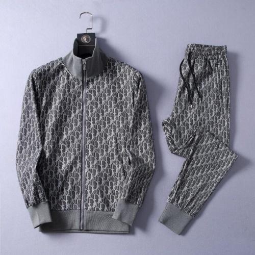 Christian Dior Tracksuits Long Sleeved Zipper For Men #807333