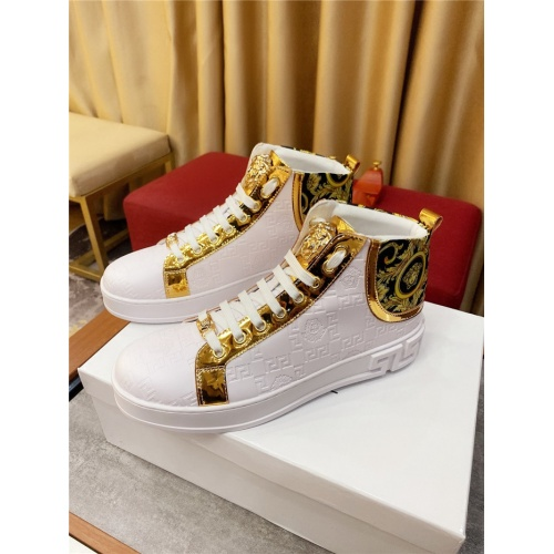 Versace High Tops Shoes For Men #807440 $76.00, Wholesale Replica Versace High Tops Shoes