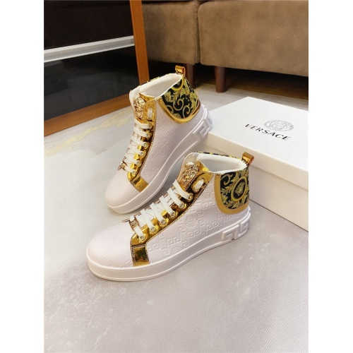 Replica Versace High Tops Shoes For Men #807440 $76.00 USD for Wholesale