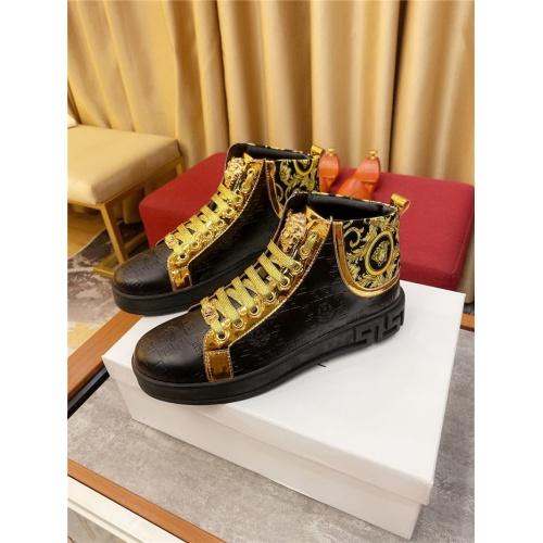 Versace High Tops Shoes For Men #807441 $76.00, Wholesale Replica Versace High Tops Shoes