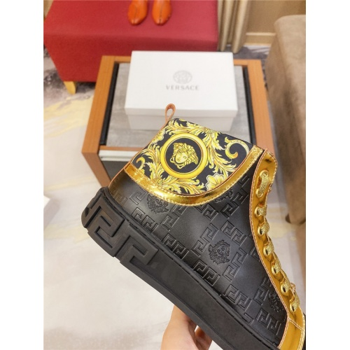 Replica Versace High Tops Shoes For Men #807441 $76.00 USD for Wholesale