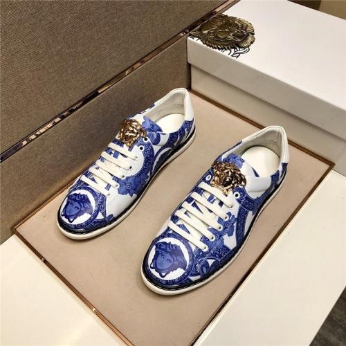 Versace Casual Shoes For Men #807467 $72.00, Wholesale Replica Versace Casual Shoes