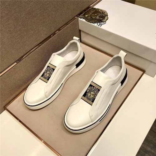 Versace Casual Shoes For Men #807469 $80.00, Wholesale Replica Versace Casual Shoes