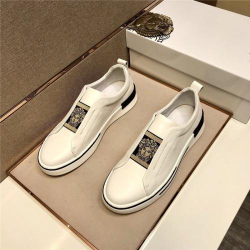 Versace Casual Shoes For Men #807469 $80.00 USD, Wholesale Replica Versace Casual Shoes
