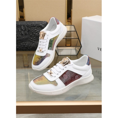 Versace Casual Shoes For Men #807528 $76.00, Wholesale Replica Versace Casual Shoes