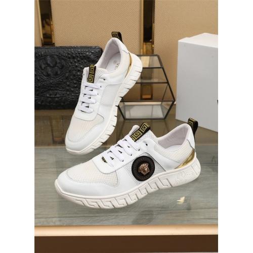 Versace Casual Shoes For Men #807529 $80.00, Wholesale Replica Versace Casual Shoes