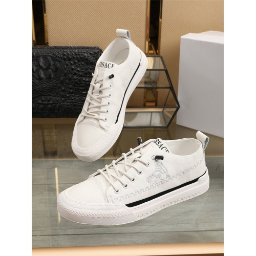 Versace Casual Shoes For Men #807530 $76.00, Wholesale Replica Versace Casual Shoes