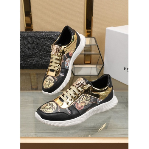 Versace Casual Shoes For Men #807531 $76.00, Wholesale Replica Versace Casual Shoes