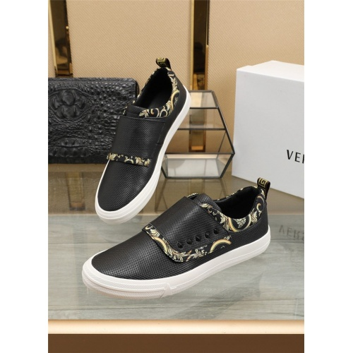 Versace Casual Shoes For Men #807533 $76.00, Wholesale Replica Versace Casual Shoes