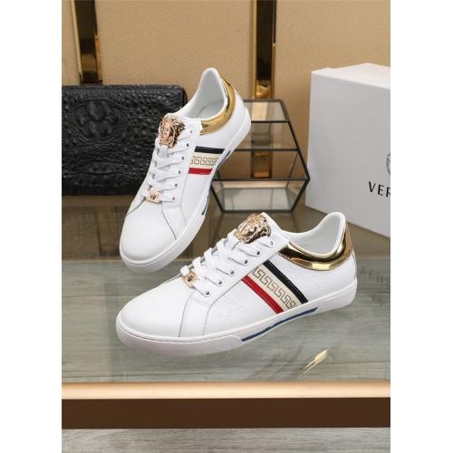Versace Casual Shoes For Men #807535 $76.00, Wholesale Replica Versace Casual Shoes